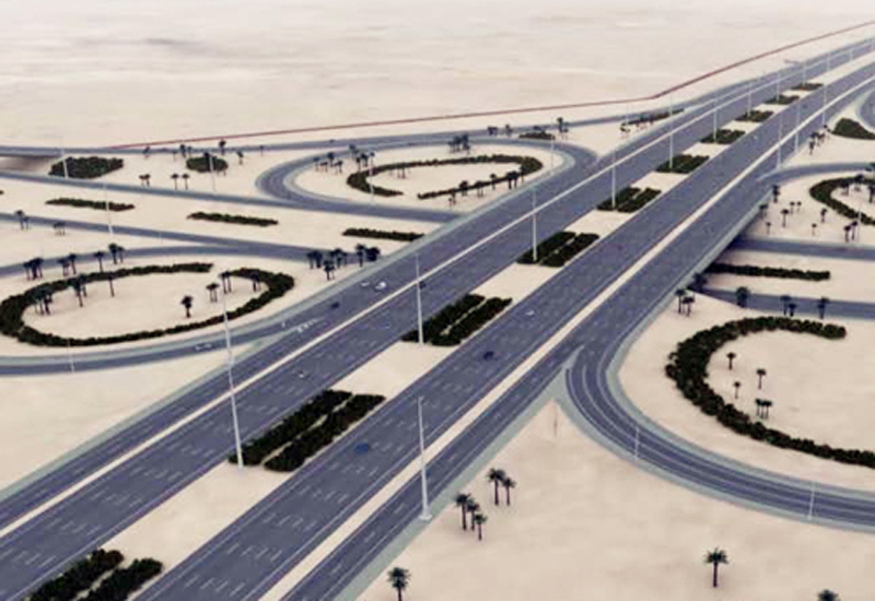 The new link road between Qatar's Hamad Port and Truck Route forms part of the New Orbital Highway project. [Representational image]