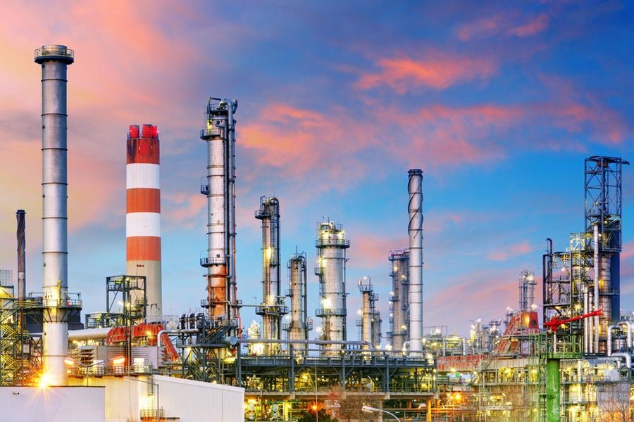 File picture of a petrochemicals complex-illustrative image only.