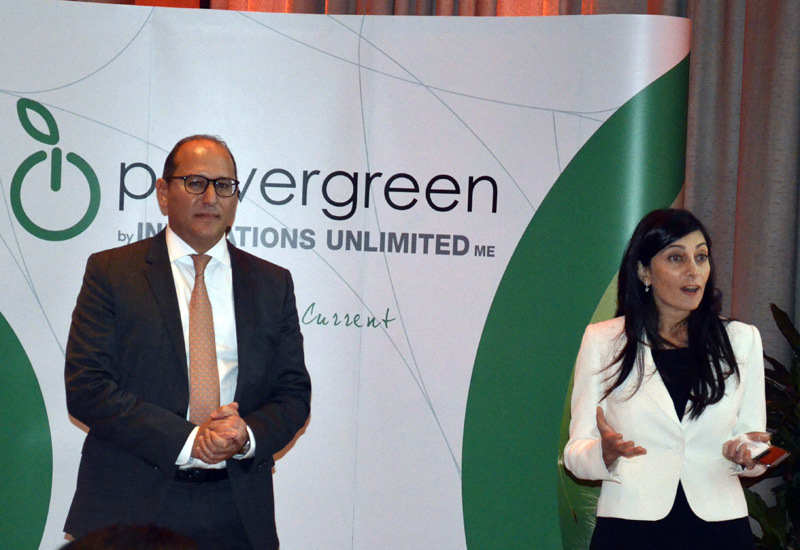 Amr Belal, mangaing partner of new company powergreen, with Diala Khairallah, marketing manager.