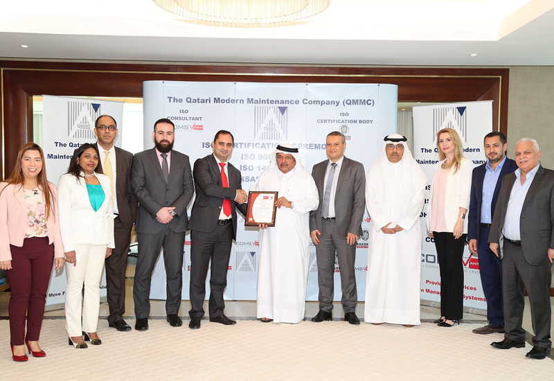 Qatari Modern Maintenance Co has recently achieved  ISO ratings, following an extensive evaluation process.