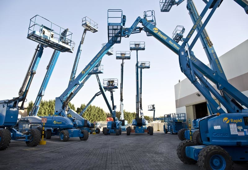 A look at the range of machines on-standby at the Rapid Access depot in Dubai.