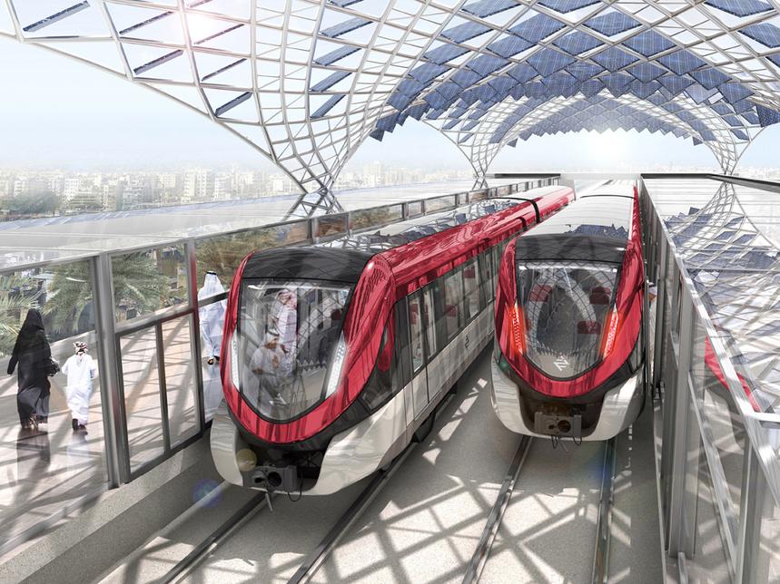 Saudi Arabia's $23bn (SAR86.3bn) Riyadh Metro is due to open in 2019.