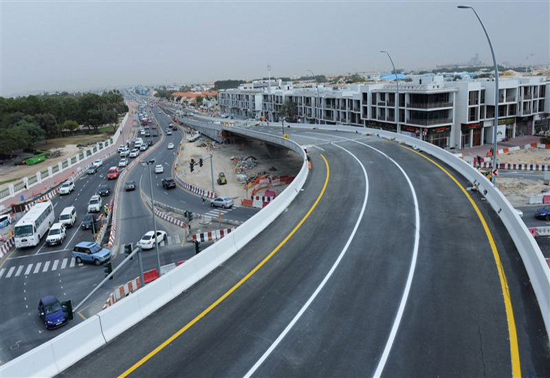 The ramp will ease the traffic flow coming from Jumeirah Road and Al Aathar Road. [courtesy: Dubai Media Office]