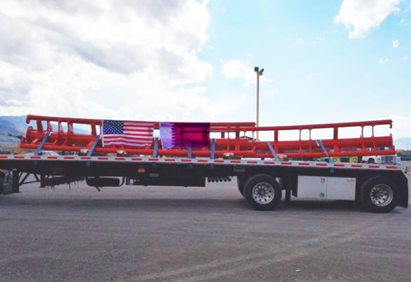 First shipment of new rollercoaster for Doha Oasis (Premier Rides Face Book).