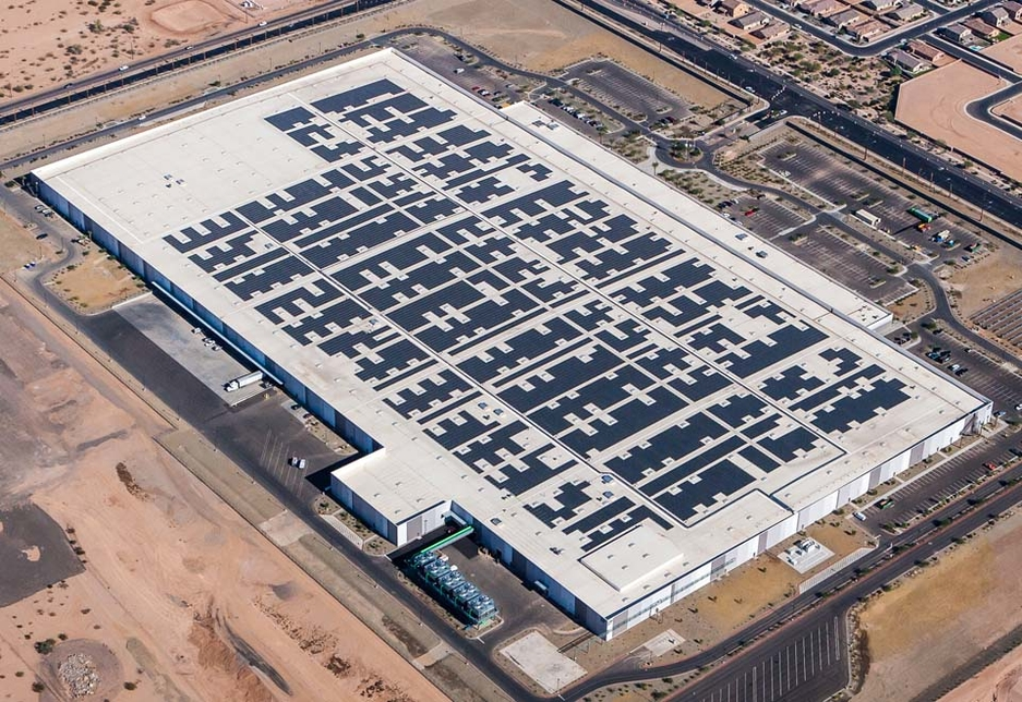 A rooftop solar installation at a light industrial facility (for illustrative purposes only).