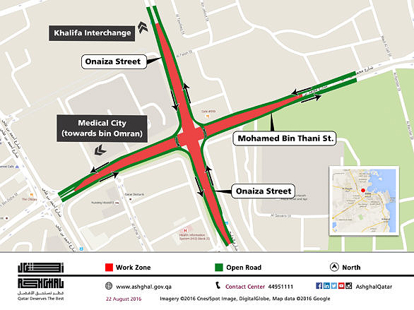 There is a major diversion at the Civil Defense roundabout which will affect traffic for the next week.