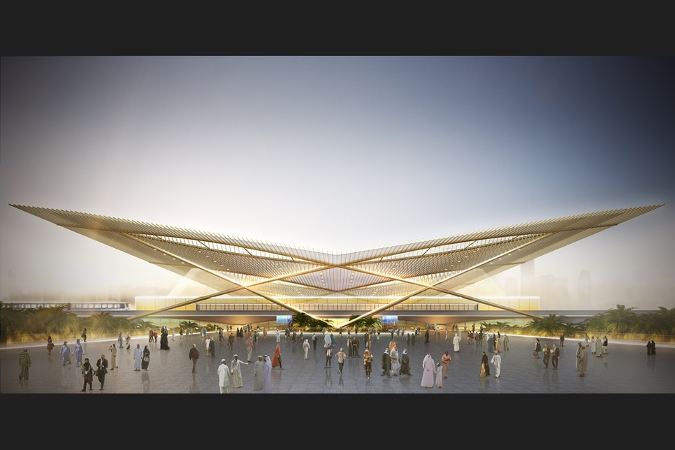 Render of Route 2020 metro station.