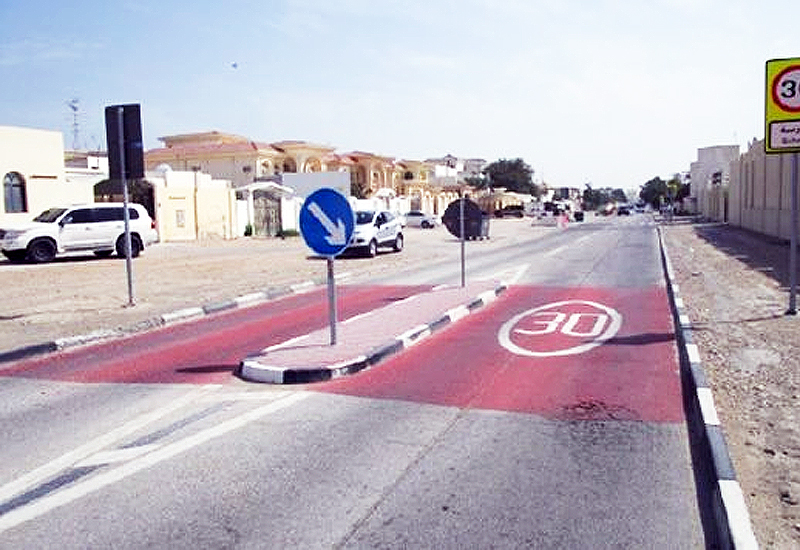 As part of the School Zone Safety Program, new speed bumps, reduced speed limits and rumble strips have been installed near more than 60 schools in Qatar.