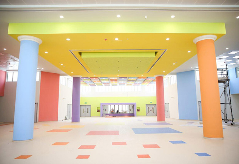 The 21 new buildings have improved interior designs to enhance the educational environment.