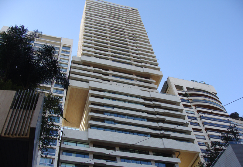 Sky Gate residential building in Beirut, Lebanon.