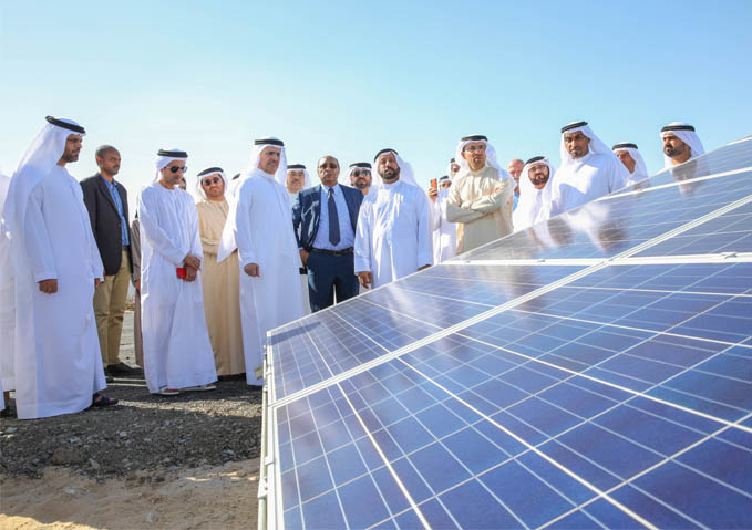 HE Saeed Mohammed Al Tayer, MD and CEO of Dubai Electricity and Water Authority (DEWA), at the Emirates Modern Poultry Co. site. [image source: DEWA]