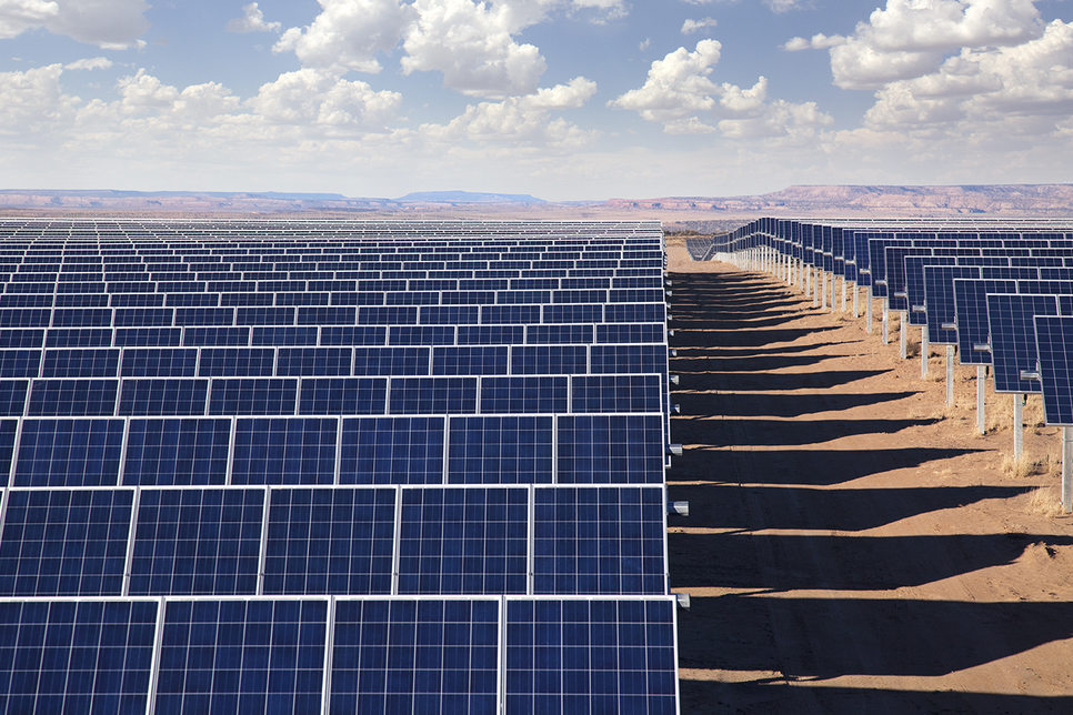 Solar energy projects are being implemented in the UAE and Saudi Arabia [representational image].