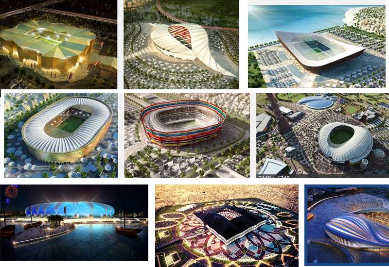 Construction for the World Cup 2022 stadia is well underway.