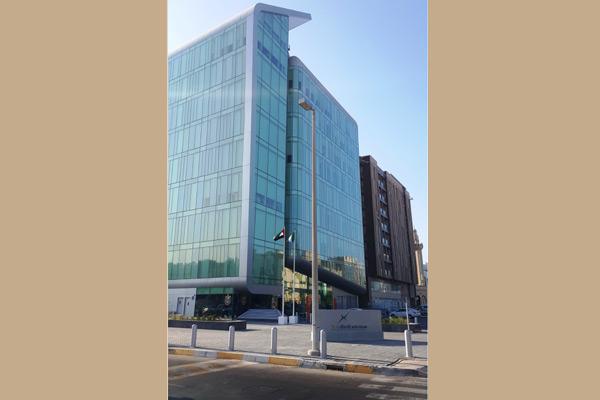 The TRA head office building in Abu Dhabi, UAE.