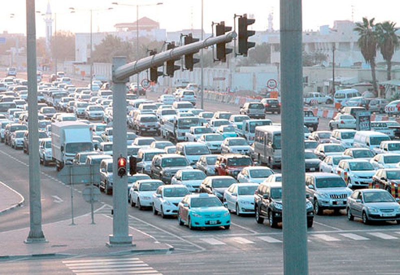 Doha traffic is due to be alleviated by the ongoing roadworks that is addressing congestion throughout the city.