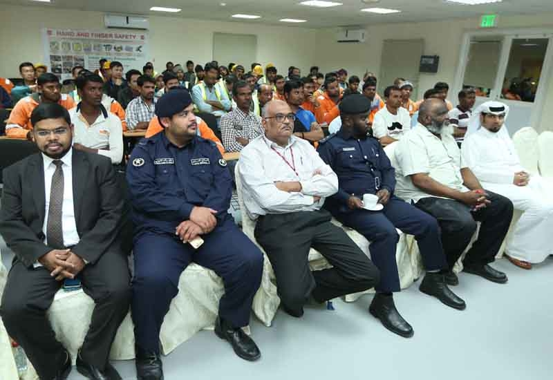 The safety and security program for workers programs were attended by more than 400 workers.