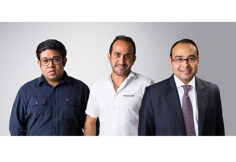 L-R: Gaurav Biswas, founder and CEO, Trukker; Elie El Tom, founder and CEO, Yalla Pickup; and, Janardan Dalmia, co-founder and CEO, Trukkin.