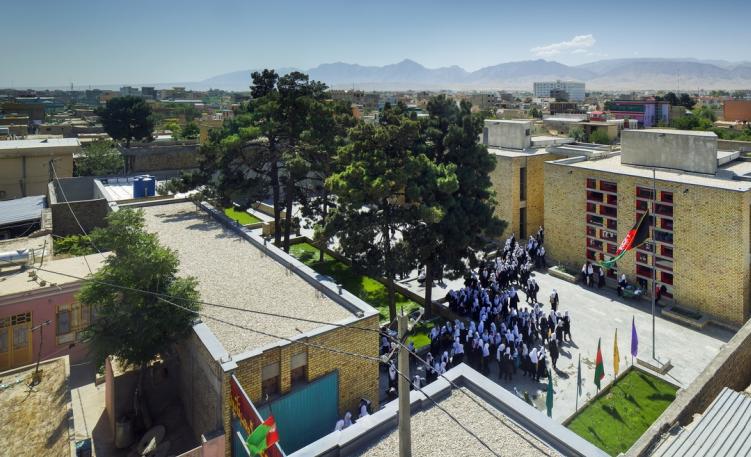 Gohar Khatoon Girl's School in Mazar-i-Sharif.