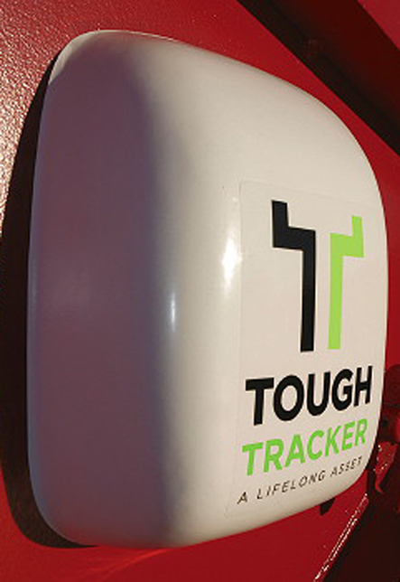 Once welded or bolted to a unit, the Tough Tracker monitoring system is virtually impossible to remove.