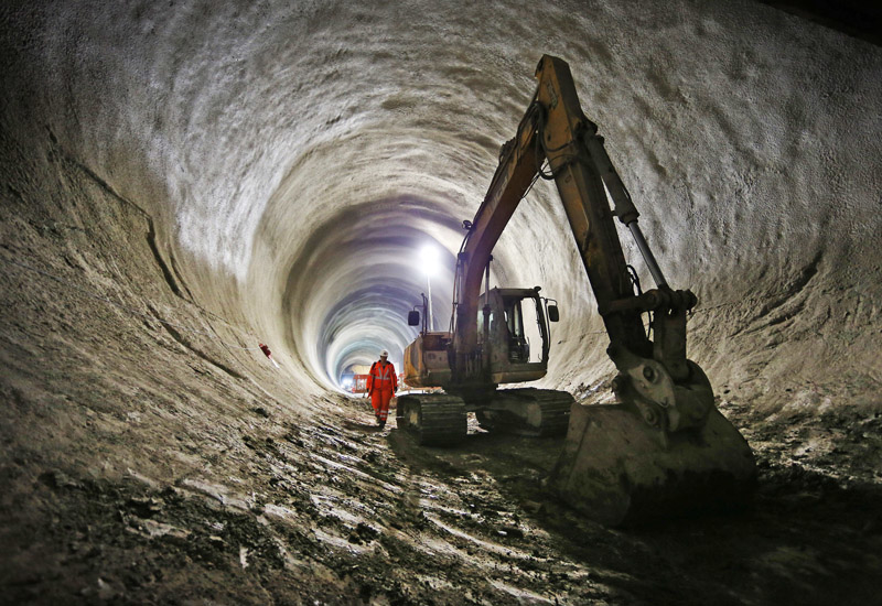 Work on the Crossrail 1 project is well underway. Image: Getty.