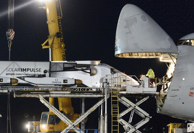 In pictures: Solar-powered plane inbound to UAE