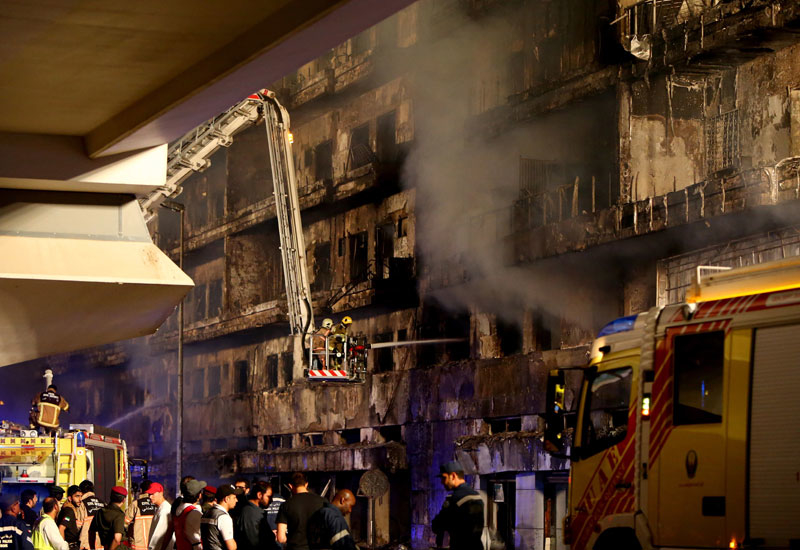 Hot topic: the UAE's latest residential fire has raised questions about how the country's older buildings can be strenghtened.