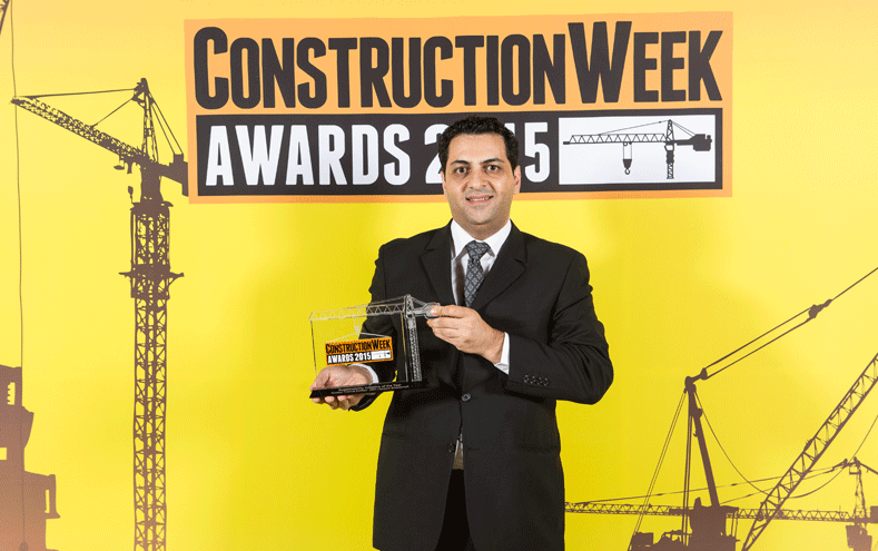 The best sustainability initiative of 2015 was awarded by Construction Week in Dubai.