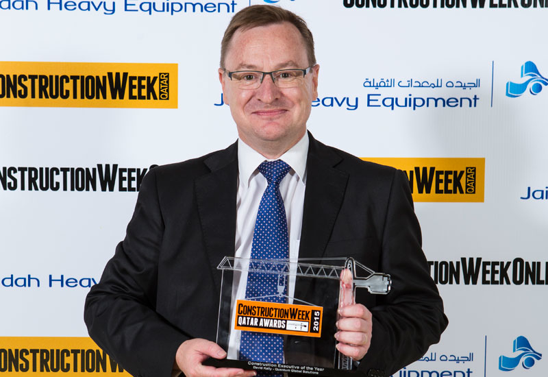 David Kelly, Quantum Global Solutions stands proudly with his trophy.