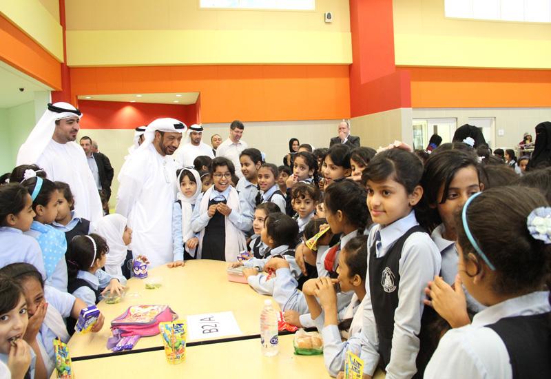 Abdulla Al Sahi, executive director, corporate services, UPC, and Mohammed Salem Al Dhaheri, executive director, school operations, ADEC.