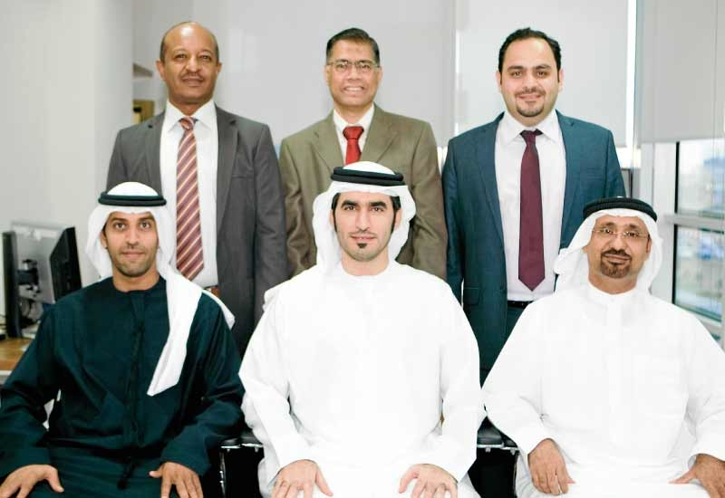 Team effort: (left to right)  (in back) Hisham Ismail, Abdul Razzak Shaikh and Adel Imran Khan. (in front) Khaled Al Ahbabi, Khaled Al Ansari and Sult
