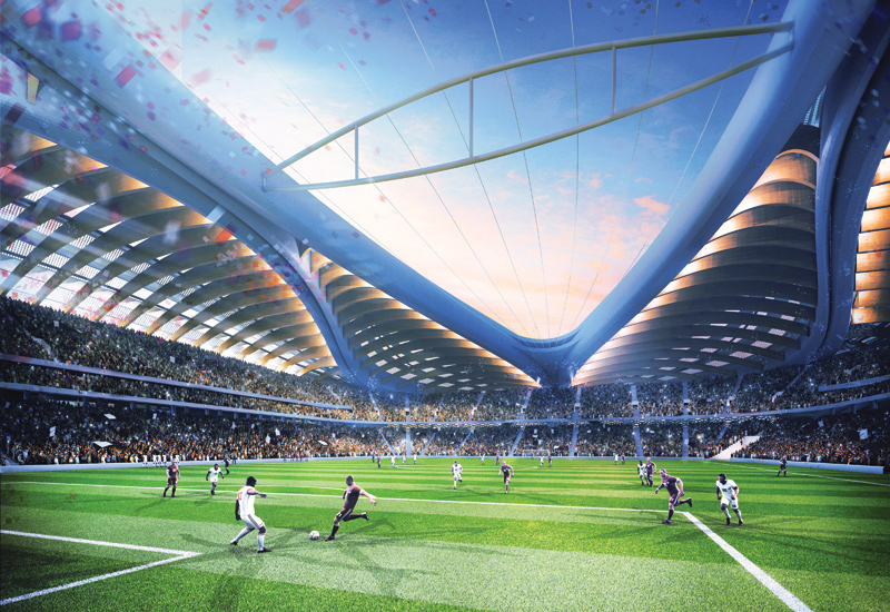 The weather station tower is expected to promote all-year football matches at Al Wakrah Stadium.
