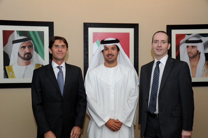 UK Minister for Trade and Investment, Lord Livingston; Helal Saeed Al Marri, director general, Dptment of Tourism and Commerce Marketing and CEO, DWTC