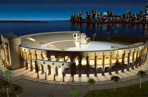 NEWS, Projects, Al Majaz Amphitheatre, Clusters of Light, Sharjah Capital of Islamic Culture 2014, Sharjah Media Centre