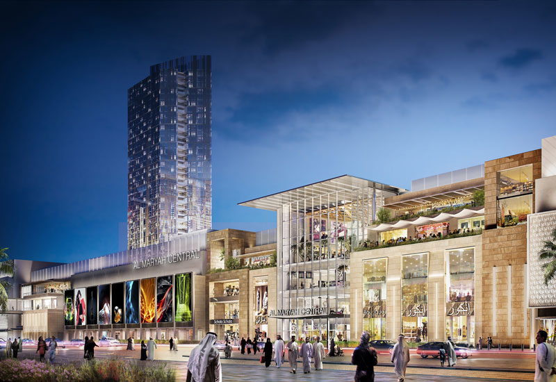 The masterplan for Al Maryah Island, featuring Gulf Related's Al Maryah Central shopping mall, was one of the schemes approved