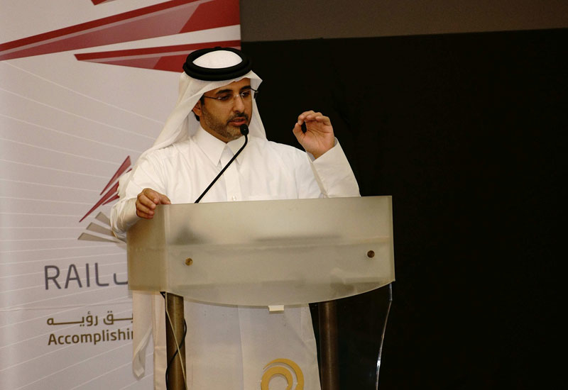 """Eng Abdulla Abdulaziz Al Subaie (above), said that Qatar Rail is currently enjoying a """"rapid growth phase"""" within its business lifecycle."""