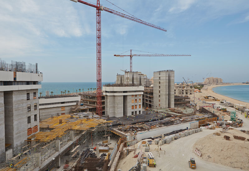 Overall, construction is 34% complete at the development.