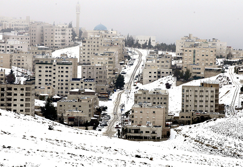 Amman, Jordan: currently plunged into the depths of winter, will get five major healthcare projects. Image: Getty.