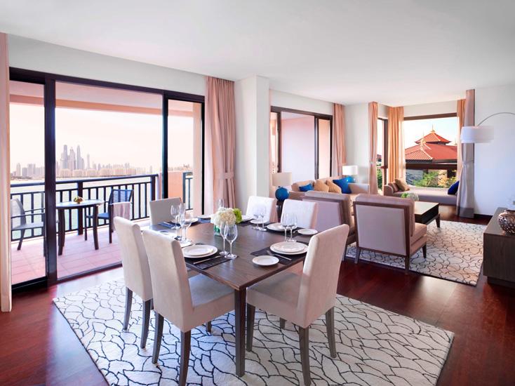 Interiors of the Anantara Dubai Palm Jumeirah Residences.
