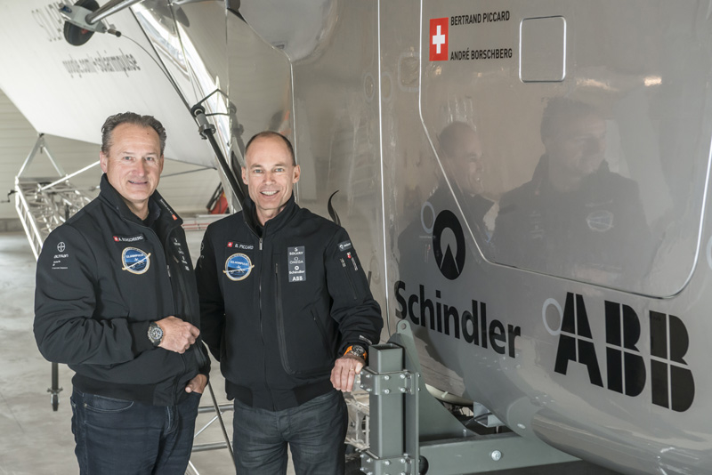 André Borschberg and Bertrand Piccard.