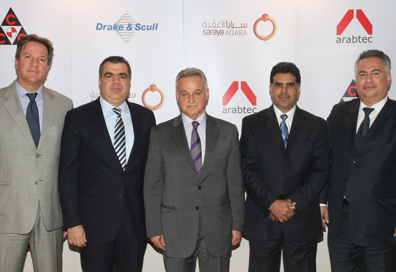 The project's developer and joint venture partners at the contract signing ceremony