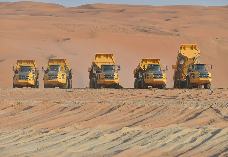 Al-Rosan started by trialling 15 Volvo machines. At the time of writing, the firm had purchased 95 Volvo units from FAMCO.