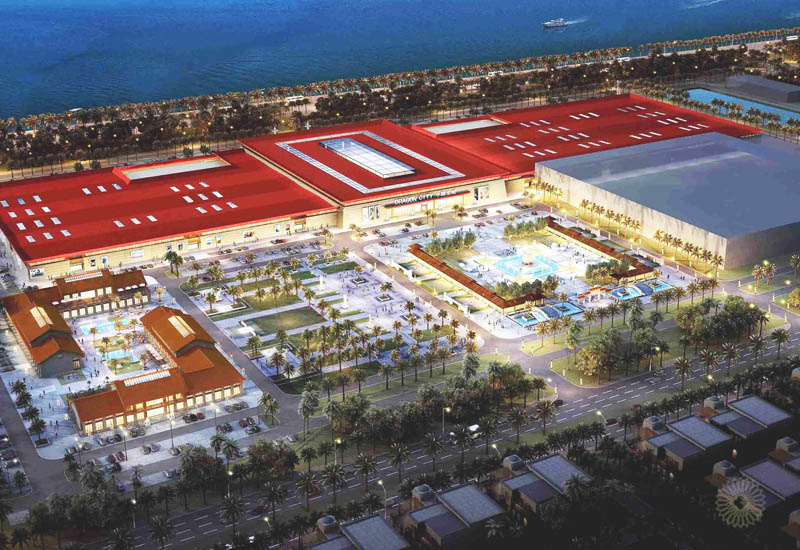 A rendering of the Dragon City project in Bahrain.