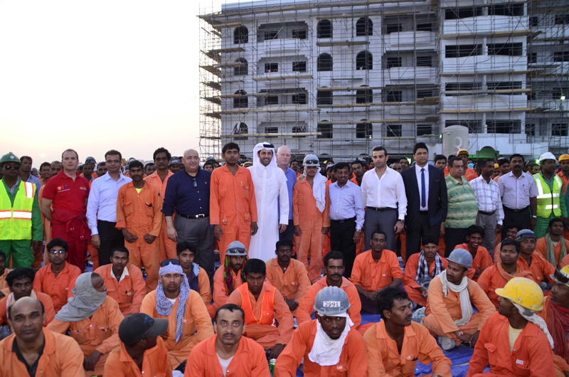 Staff at the Barwa Al Khor Shell Housing Project.