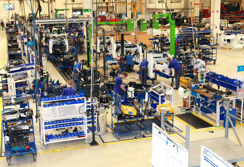 Bobcat Dobris Campus's production plant occupies an area of 22,000 sqm and hosts 590 employees.