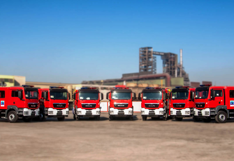 All seven fire-fighting and emergency response vehicles have been delivered to the Badra oilfield.