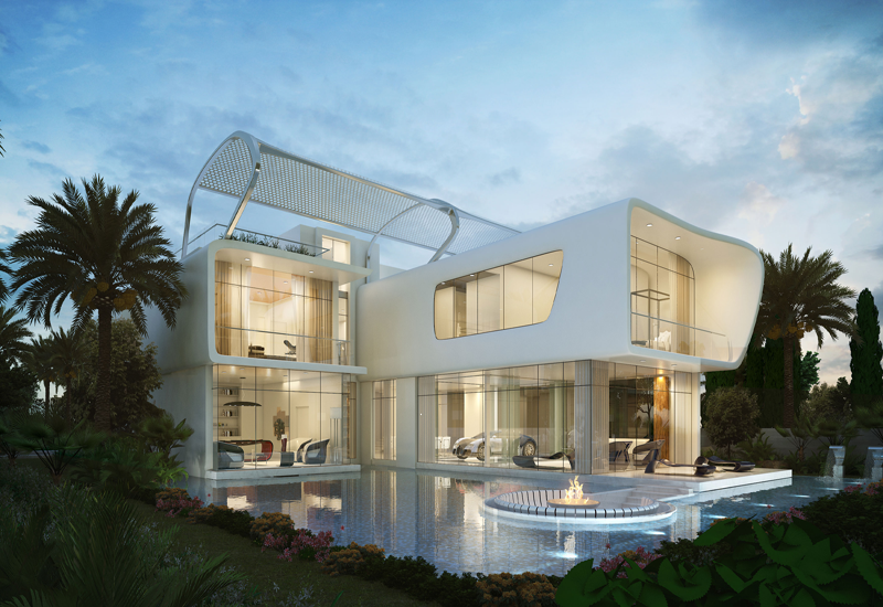 Damac's Bugatti styled villas at Cityscape Global 2015.