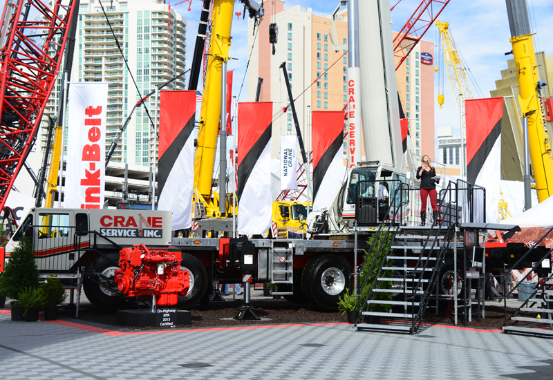 Link-Belt received a number of crane orders during the five-day event.