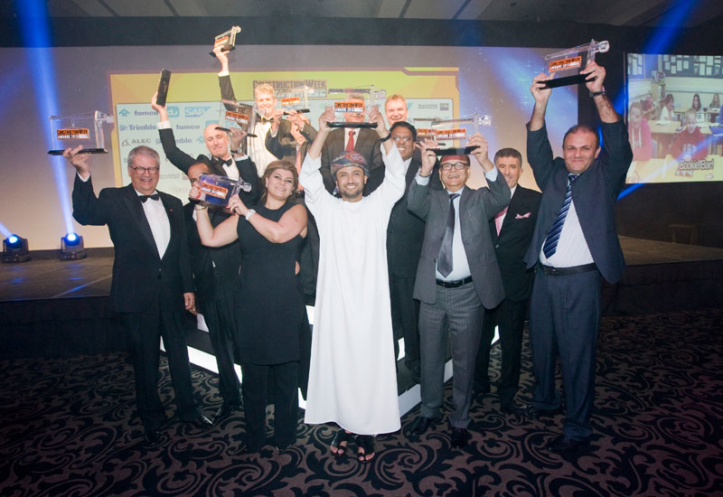 Winners from the 2013 Construction Week GCC Awards