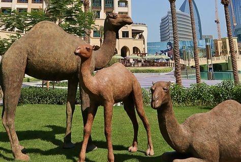 NEWS, Projects, Camels, Donald Greig, Downtown Dubai, Emaar, Sculpture