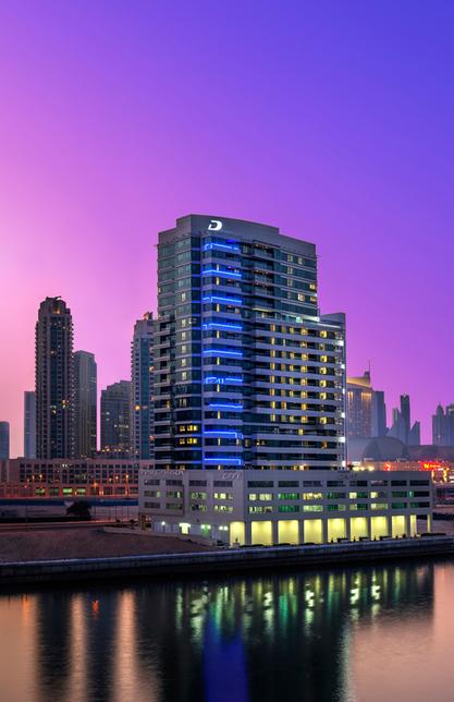 Canal Views in the Burj area of Dubai.